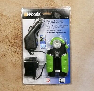 Nouveau Coleman Cable Woods DEL rechargeable TASK LIGHT 100 lm 1439