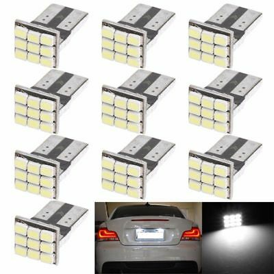 10 x T10 W5W 1206 9SMD Car LED Canbus Auto License Plate Light Instrument Lamp