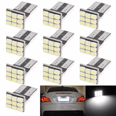 10 x T10 501 W5W 9 SMD LED NUMBER PLATE BULBS CANBUS ERROR FREE XENON HID WHITE