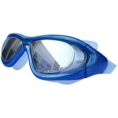 Super Big Frame No Press The Eye Swimming Goggles For Adult (blue)