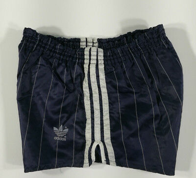 Adidas Short Vintage Blu Notte A Righe Old Running Sport West Germany