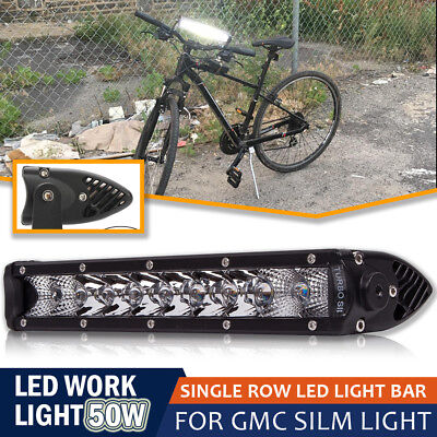 "10""Inch 50W Spot Flood Combo Slim Off Road Driving Light For Bike Boat Truck UTE"