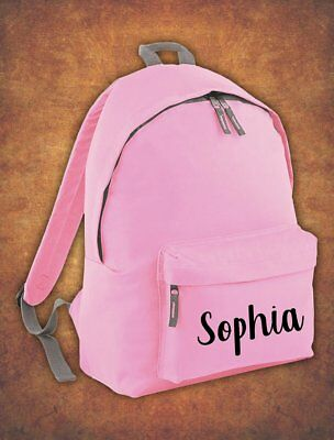 Personalised Kids Backpack - Any Name Name  Girls Boys Back To School Bag