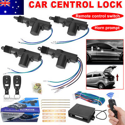 Remote Control Car Central Locking Security System Keyless Entry Lock Kit 4 Door