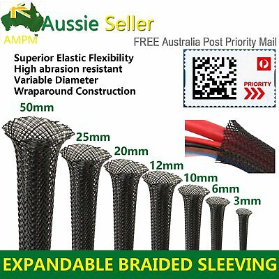 3 Weave PET Expandable Braiding Sleeving Braided Sleeve Cable Management / Guard