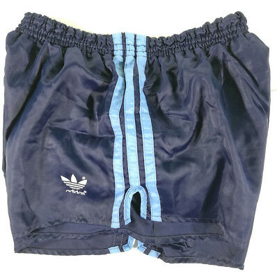 Adidas Short Vintage West Germany Blu A Righe Azzurre Old Running Sport Pants