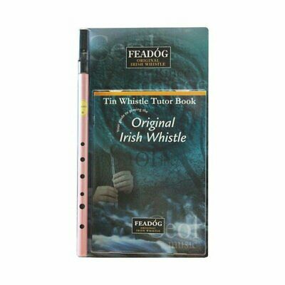 Tin Whistle Feadog Pink D Irish Whistle - DOUBLE PACK
