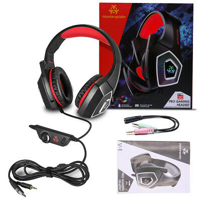 Gaming Cuffie da gioco PC microfono Noise Cancelling per cuffie LED Mac PS4 Xbox