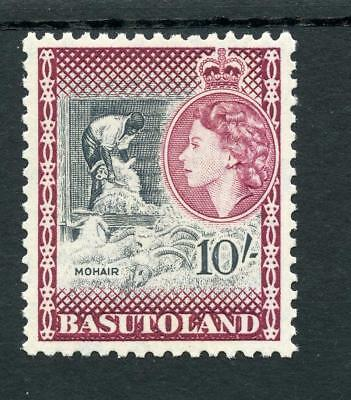 Basutoland 1954-58 10s black and maroon SG53 MNH
