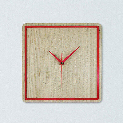 Large Indoor Oak Wood Wall Clock for Modern Home Decor, Silent Mechanism
