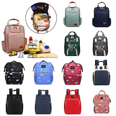 Mommy Nappy Backpack Waterproof Large Capacity Diaper Bag Shoulder Bag Tote Lot