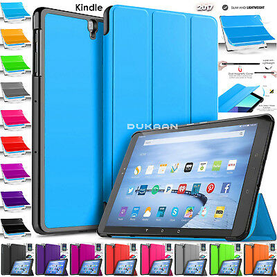 "Leather Smart Stand Case Cover For Amazon Kindle Fire HD 10"" Inch 7th Gen 2017"