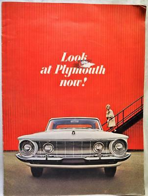 1962 Plymouth Automobiles Car Advertising Sales Brochure Guide Vintage