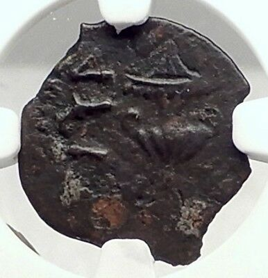 Authentic Ancient JEWISH WAR v ROMANS 68AD Yr3 JERUSALEM Coin AMPHORA NGC i72956