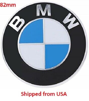 1 x Front Hood Rear Trunk Emblem Logo Badge 82MM BMW 1, 3, 5, 6, 7, Х, Z Series