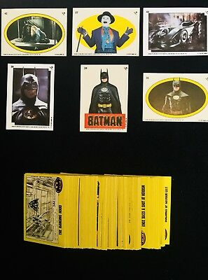 1989 TOPPS BATMAN TRADING CARD Series 2 Lot - 💯+ Cards & Stickers EX-MT NM+