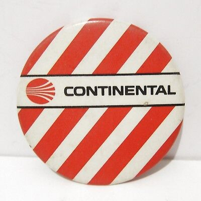 CONTINENTAL AIRLINES RED and WHITE STRIPED LARGE BADGE PINBACK - VINTAGE