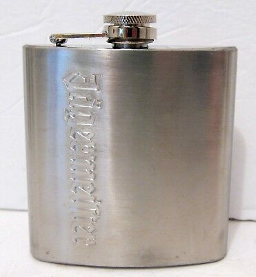 Jagermeister Hip Flask - Brushed Stainless Steel