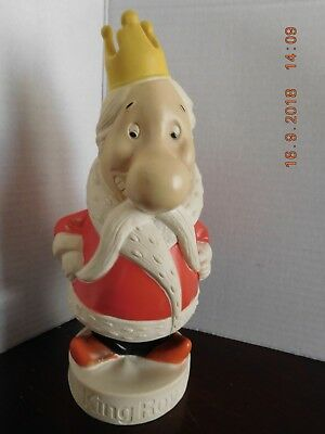Vintage King Royal Gelatin Vinyl Adertising Figure Bank  Nice Condition