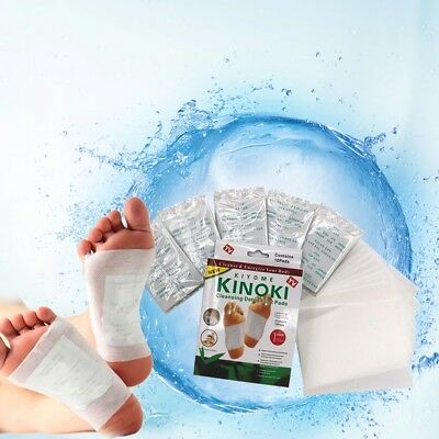 Herbal Organic KINOKI (Detox Foot Pads) Detoxify Slimming Patches Wraps 10/Box
