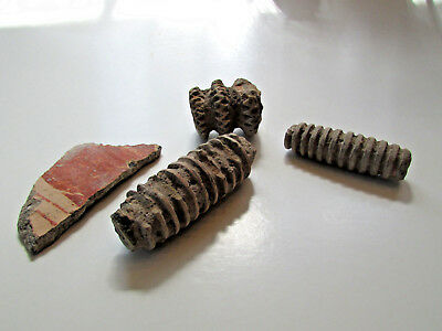 Ancient Greek Pottery Shards - Honey Dipper tools - historical museum artifacts