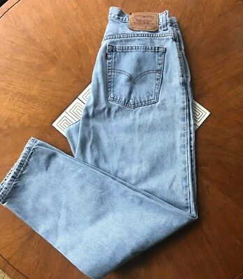 Vintage 80s-90s Levis 550, relaxed fit, mom Jeans, high-waisted, tapered leg 14