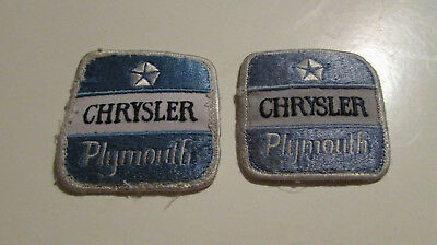 2 CHRYSLER PLYMOUTH 1967-82 Barracuda Road Runner 300 Duster - vintage patch lot
