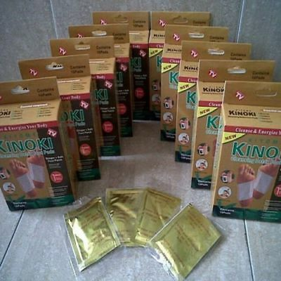 Herbal Organic KINOKI (Detox Foot Pads) Slimming Patches Wraps Lot 10-1000x