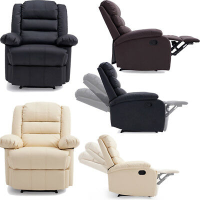 Home Reclining Armchair Lounger Chair Comfortable Living Room TV Char 3 Colours