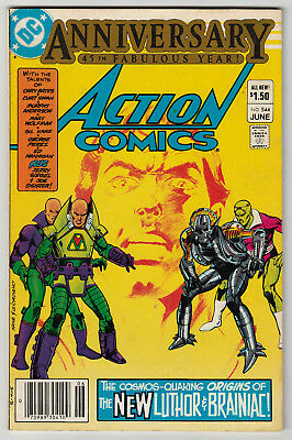 Action Comics #544 NEWSSTAND 1st Appearance of New Lex Luthor Brainiac 1983 F/VF