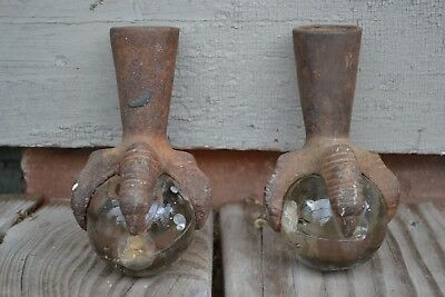 Antique Cast Iron Claw Foot with glass ball