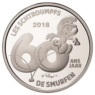 Belgium 2018 silver BE - The Smurfs / The Smurfs / From Smurfen