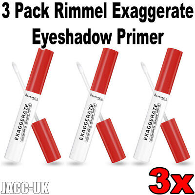 NEW Job Lot 3 Pack Rimmel Exaggerate Undercover Eyeshadow Primer 6ml