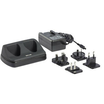 FLIR T198126 2-Bay Battery Charger with Plug Adapters