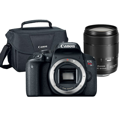Canon Rebel T7i 24.2MP SLR Camera 18-135mm f/3.5-5.6 IS USM Lens + Original Case