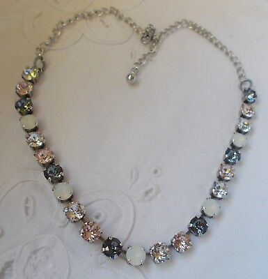 7a575114ffcfb 8MM CUP CHAIN NEUTRAL/ANTIQUE SILVER Tennis NECKLACE/CHOKER~Swarovski  Crystals