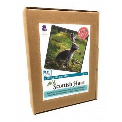The Crafty Kit Company - Wild Scottish Hare Needle Felting Kit