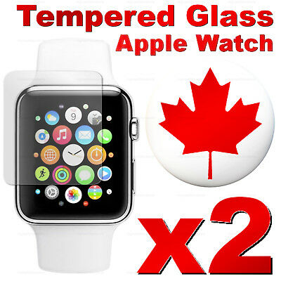 Premium Tempered Glass Screen Protector For Apple Watch 42mm / 38mm (2 PACK)