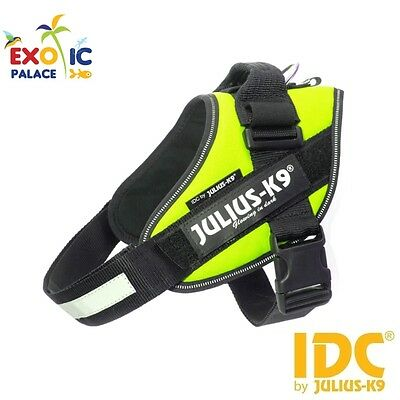 Julius-K9 Idc Powerharness Neon Harness Fluorescent Yellow For Dog Nylon