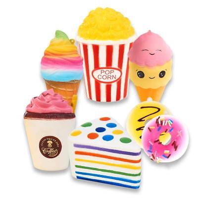 Fast Food Jumbo Slow Rising Squishies Scented Squishy Squeeze Charm Kids Toy Lot