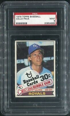 1979 Topps Baseball Unopened Cello Pack, (Psa-9-Mint),perfect Looking Pck,tough!
