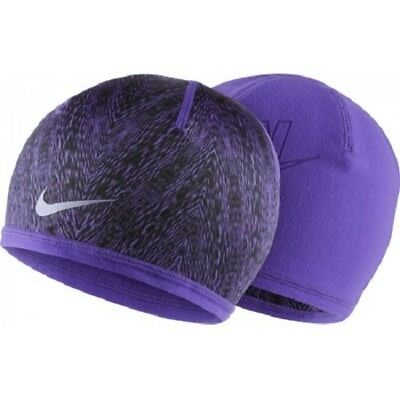 NIKE RUN COLD Weather DRI-FIT Reversible Headband Grape Black 632273 ... bced11643d6