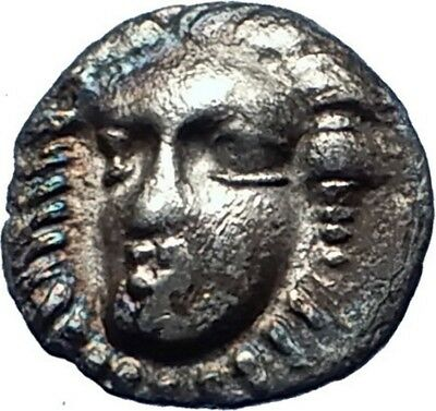 PHISTELIA Campania Italy 325BC  Ancient Silver Greek Coin NYMPH & LION  i73234