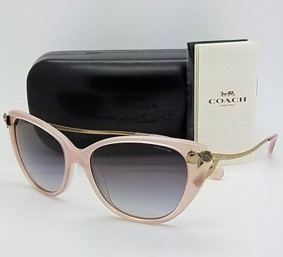 7eecc0196b New Coach sunglasses HC8242B 511311 55 Gold Pink Gradient 8242 AUTHENTIC  Cateye