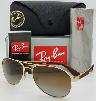 03ce198066b NEW Rayban sunglasses RB3549 001 T5 58 Gold Brown Gradient Polarized Pilot  3549