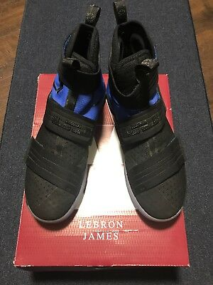 online store 63f82 f09c8 Lebron James Soldier 10 SFG Nike Black Basketball Shoes - Size 11.5 844378 -004
