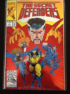 The Secret Defenders #1 NM/MT Red Foil Cover    1993