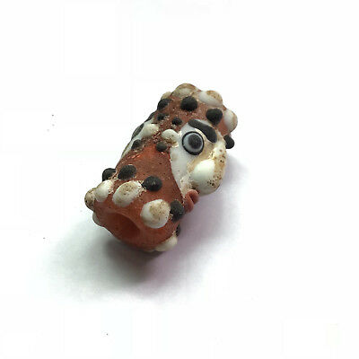 Antique Jewish Roman Glass Beads 1700s Unique Islamic Monster Amulet Very Rare