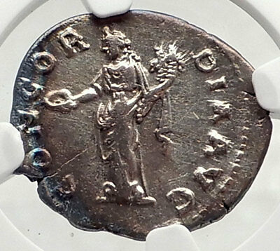 FAUSTINA I Sr. Authentic Ancient 139AD LIFETIME Silver Roman Coin NGC i73036