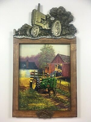 "John Deere ""A Family Tradition"" Picture & Frame Bradford Exchange Limited Editio"